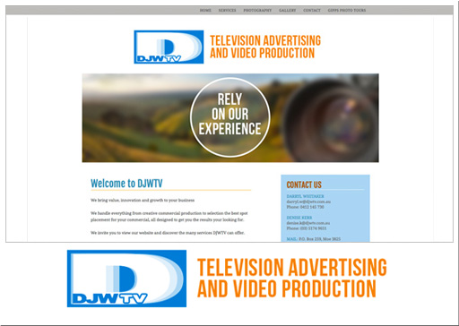 screenshot of DJWTV website
