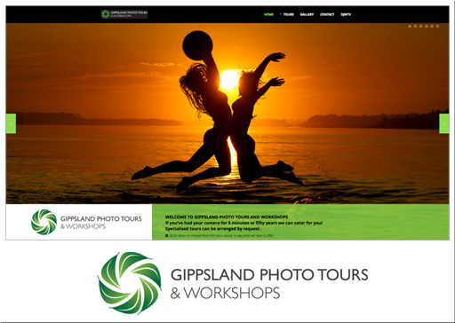 screenshot of Gipps Photo tours website